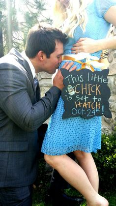 Fun spring baby announcement