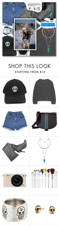 """""""Why'd You Only Call Me When You're High?, Arctic Monkeys"""" by blendasantos ❤ liked on Polyvore featuring Uniqlo, Gabriella Rocha, Nikon, Me&Ro and Kasun"""