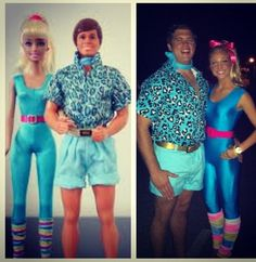 DIY Barbie & Ken Halloween Couple Costume Idea
