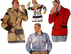 A variety of colors and styles. These coats were made in outdoors/work Mackinaw and Cossack styles. They were generally advertised alongside other outdoors-type garments. Hudson Bay Blanket, Blanket Coat, Fur Trade, Woolen Mills, Team Uniforms, Warm Coat, Military Jacket, Jackets