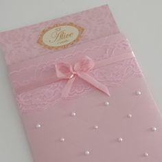 elegant first birthday Christening Invitations, Wedding Invitations, Ballerina Party, Baby Cards, Scrapbook Cards, Princesa Alice, Pink And Gold, Wedding Cards, First Birthdays
