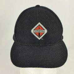c09e3958ad0 International Trucks Black Wool Blend Adjustable Strapback Baseball Hat or  Cap  Otto  BaseballCap Hat