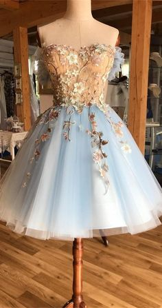 A-Line Off-the-Shoulder Above-Knee Light Blue Homecoming Prom Dress with Appliques - - princess light blue tulle short prom dresses for teens,modest party gowns with appliques Source by Light Blue Homecoming Dresses, Cute Prom Dresses, Prom Dresses For Teens, Dance Dresses, Teen Dresses, Dresses Dresses, Casual Dresses, Wedding Dresses, Summer Dresses