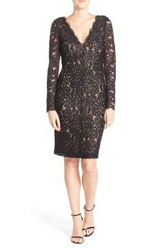 Vera Wang Lace Sheath Dress available at #Nordstrom