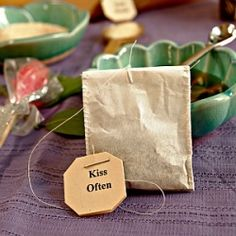 Simple gift: take loose tea & sew into coffee filters for cute teabags!