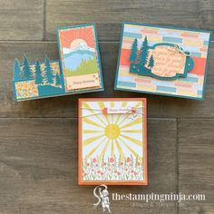 The Stamping Ninja - The Stamping Ninja Side Step Card, Stampin Up Paper Pumpkin, Fabric Cards, Step Cards, Wink Of Stella, Shaped Cards, Pumpkin Crafts, Stamping Up, Stampin Up Cards