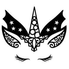 Silhouette Design Store - Product ID unicorn Silhouette Projects, Silhouette Design, Halloween Crafts, Halloween Decorations, Machine Silhouette Portrait, Craft Images, Diy Crafts To Do, Unicorn Halloween, Unicorn Face