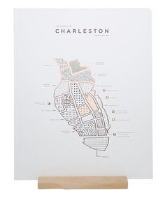 ROAM by letterpress and shiny copper Foiled 16 x 20 map print of Charleston, SC. Printed on 100 LB. Map Design, Print Design, Charleston Map, Information Design, Photoshop, Grafik Design, Design Reference, Letterpress, Typography Design