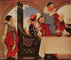 Maxfield Parrish - Sing a Song of Sixpence - One of his illustrations for Nursery Rhymes. Many of his illustrations to children's books, still popular today, are the result of his struggle to make a living as an artist in his early years around the turn of the 20th century. Source/Art Passions