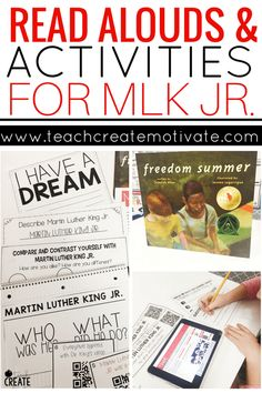 This read aloud and classroom activities are the perfect way to discuss MLK Jr. with your students.