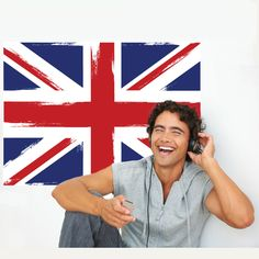 British Flag Union Jack Wall Decal Repositionable Peel and Stick Bedroom Themes, Bedroom Decor, Bedroom Ideas, Cheap Vinyl, British American, British Invasion, Removable Wall Decals, Wall Stickers Murals, Union Jack