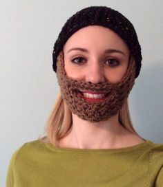 Free beard pattern -- includes child-sized pattern at the bottom.