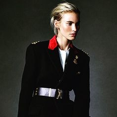 @ellegermany @joshuajordan1 @hair by me @murielvancauwen @ralphlauren @dsquared2  #topmodel @emilymaybaker @kathrin_seidel @pacoblancas #fashion on #ellemagazine  # day for this shoot @xclusiveartists #instalike #inspiration #military #chic #straight #square #leonorgreyl #hairproducts @hottoolspro #wavycurls  #slickback #shinyhair