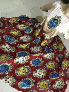 Kalamkari silk anarkalis..... Size L and Xl Possible to extend sizes to XXL..... *Price: 1999+$* Order what's app 7995736811