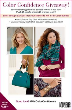Color Confidence Blogger Event & Giveaway! Join the fun! Giveaways end 8/31/15.