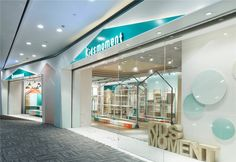 Image 26 of 32 from gallery of Be Kids for One Moment / RIGIdesign. Photograph by Yue Ping Visual Merchandising, Contemporary Architecture, Interior Architecture, Clothing Store Design, Clothing Stores, Kids Clothing, Laundry Shop, Shop Facade, Retail Facade