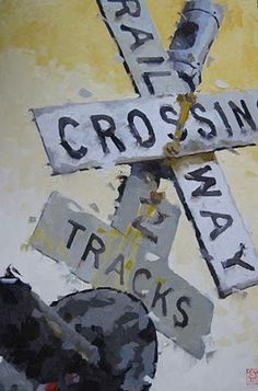 Crossing, 194, painting by artist David Boyd, Jr