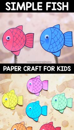 Paper Fish Craft This simple paper fish craft takes less than a minute so it's a perfect boredom buster for summer.This simple paper fish craft takes less than a minute so it's a perfect boredom buster for summer. Fish Paper Craft, Paper Crafts For Kids, Fun Crafts, Arts And Crafts, Simple Paper Crafts, Toddler Crafts, Preschool Crafts, Preschool Christmas, Christmas Paper