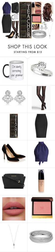 """Dream Job!! <3"" by hayley11123 ❤ liked on Polyvore featuring CZ by Kenneth Jay Lane, Express, DutchCrafters, Roland Mouret, CECILIE Copenhagen, MICHAEL Michael Kors, Shiseido, Tom Ford and Marc Jacobs"