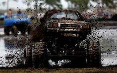 Toyota truck throwing the mud    http://Pinterest.com/Treypeezy  http://OceanviewBLVD.com