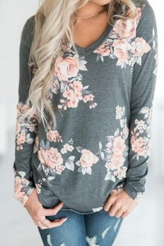 Love the grey floral print