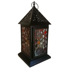 'Exotic' Stained Glass Lantern - by Smash Glassworks [SOLD]