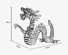 Custom 3d Puzzles - 3D Animal Puzzle - Paper Maker 3D Jigsaw Puzzle Dragon DIY Craft Gifts Home Decoration