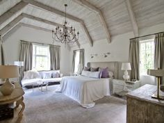 exposed beams, paneled ceiling MASTER