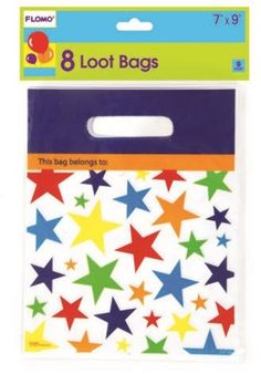 Star Design Printed Loot Bags (8 count) Case Pack 36