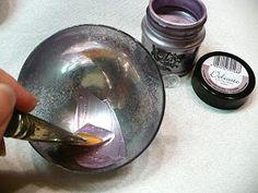 Pentart dekor: Karácsonyi gömb tükör permetfestékkel Peridot, Peridots