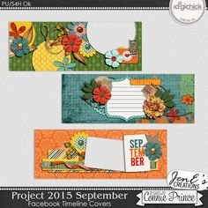 Project 2015 September - Facebook Timeline Covers from Designs by Connie Prince