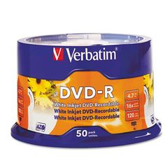 Introducing Verbatim DataLifePlus  50 x DVDR  47 GB 16X  White  Ink Jet Printable Surface  Spindle  Storage Media 08265B Category DVD Media. Great product and follow us for more updates!