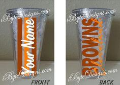 Custom  Cleveland Browns  16 oz. or 32 oz. acrylic by iByteDesigns