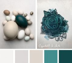 Sometimes all you need for your embroidery is one stunning color, like a gorgeous deep green in this Eggshell & Jade color inspiration.