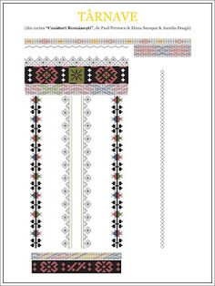 Semne Cusute: din TRANSILVANIA Folk Embroidery, Embroidery Stitches, Embroidery Patterns, Cross Stitch Patterns, Knitting Patterns, Wedding Album Design, Palestinian Embroidery, Pattern Art, Beading Patterns