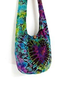 Handbags Tie Dye bag Cotton Bag Hippie bag Hobo bag by veradashop, $9.98
