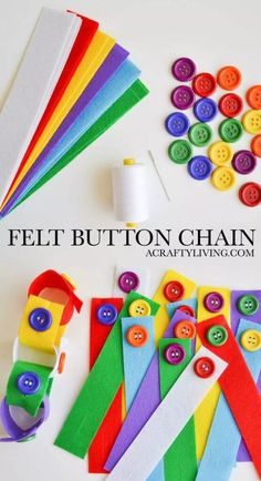 Felt Button Chain Busy Bag for Toddlers & Preschoolers! DIY Felt Button Chain – Simple Busy Bag developing fine motor skills, colour recognition & learning a practical self-care task! Perfect for Toddlers & Preschoolers! Motor Skills Activities, Montessori Activities, Fine Motor Skills, Preschool Activities, Preschool Learning, Fine Motor Activities For Kids, Quiet Toddler Activities, Colour Activities, Toddler Games