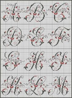 Hello everyone ! We are Monday, free Sajou day! Grid Sajou 181 page 3 What you can find among others . 123 Cross Stitch, Cross Stitch Cards, Simple Cross Stitch, Cross Stitching, Cross Stitch Alphabet Patterns, Cross Stitch Letters, Cross Stitch Designs, Stitch Patterns, Blackwork Embroidery