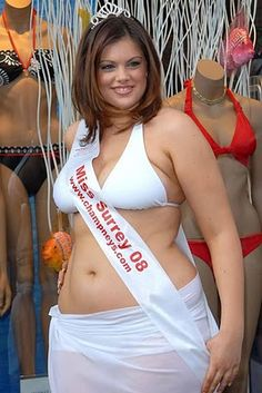 Chloe Marshall — Surrey, England's Chloe Marshall was the first plus size young woman to compete in the finals of the Miss England competition. Marshall, a UK size 16, finished second, and was subsequently signed to the Models Plus agency. She's even posed for fellow model Velvet D'Amour.