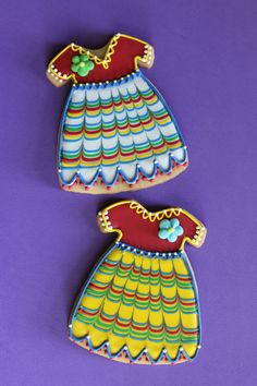 Cinco de Mayo fiesta dress cookies by Julia M. Usher