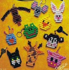 Arts And Crafts Organizer Pony Bead Projects, Pony Bead Crafts, Beaded Crafts, Beaded Ornaments, Ornament Crafts, Christmas Ornament, Cute Crafts, Crafts To Do, Crafts For Kids