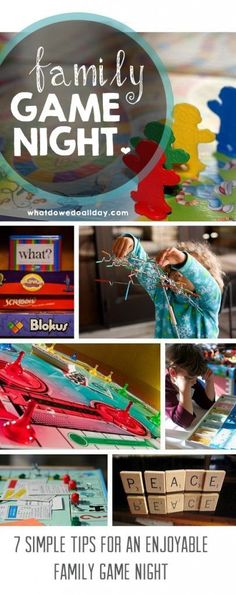 {7 Tips for an Enjoyable Family Game Night} *30+ game suggestions too