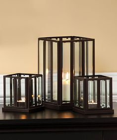 Metal Lantern Set #homedecor #candles
