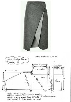 Sewing skirts patterns inspiration 56 ideas Images about Japanese Sewing Patterns, Skirt Patterns Sewing, Clothing Patterns, Sewing Clothes, Diy Clothes, Techniques Couture, Fashion Sewing, Mode Inspiration, Pattern Fashion