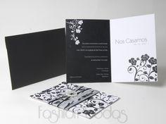 tarjetas de invitacion negro dorado blanco - Buscar con Google