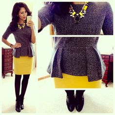 Grey and yellow - love!
