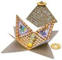 pyramid crafts   Papermau: Pyramid Book Papercraft School Project - by Dickblick.com