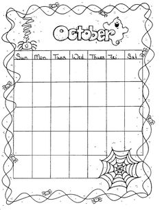Free printable calendar coloring pages will be using these for Sunday school calendar template