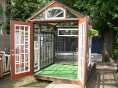 Would love to try making one similar...all the great windows and doors at Restore would make it easy and fun!