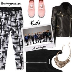 Kai from EXO K Call me baby MV inspired by look Exo K, Call Me, Balmain, Kai, Alexander Wang, Shoe Bag, Inspired, Forever 21, Polyvore